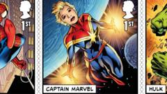 New Captain Marvel stamps.