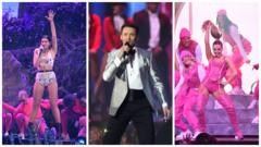 Brit show stars Dua Lipa, Hugh Jackman and Little Mix