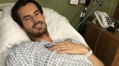 Image of Andy Murray in hospital bed