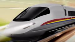 An artist's impression of one of the planned trains on the high-speed line from Singapore to Kuala Lumpur