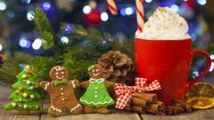 Gingerbread family and hot chocolate