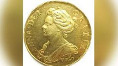 Five guinea gold coin