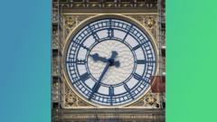 Clock face on Elizabeth Tower
