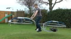 Amazing hoverbike