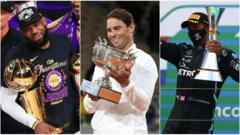 LeBron James, Rafa Nadal and Lewis Hamilton