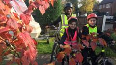 Ayshah went out on her bike with Lucia and Michael