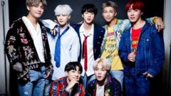 BTS poses for a portrait during the 2017 American Music Awards at Microsoft Theatre.