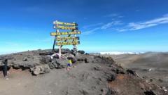 Mount Kilimanjaro sign.