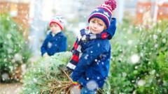 boys-outside-drag-christmas-tree.