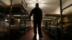 A prisoner in another Soviet-era penal colony in Makiivka, Ukraine