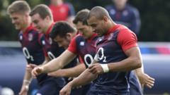 England players training