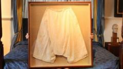 Large silk bloomers owned by Queen Victoria