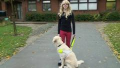 Press Packer Hannah with her guide dog