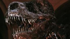 T-Rex skelton