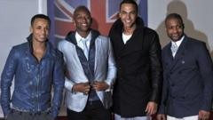 JLS arriving at The Brits in February 2012
