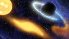 Artist's impression of black hole