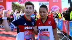 Ricky and Leah before the London Marathon