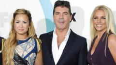 US X Factor judges Demi Lovato, Simon Cowell and Britney Spears