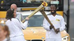 will.i.am on the Olympic Torch Relay