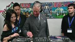 Prince Charles learns how to DJ