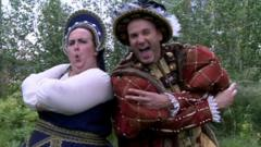 Horrible Histories actors playing Anne Boleyn and Henry the Eighth