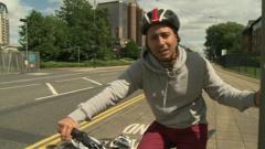 Ricky on his bike