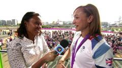 Leah meets Jess Ennis