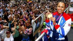 Jessica Ennis at London 2012 victory parade