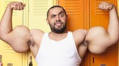 Man with large muscles