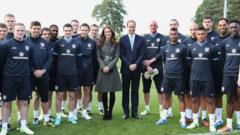 Prince William and Kate at opening of St George's Park