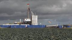 Fracking facility in the UK