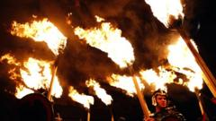Around 7000 torchbearers and 30,000 onlookers gathered in Edinburgh, Scotland's capital city, on Sunday night to start the annual Hogmanay celebrations.