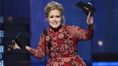 Adele wins a Grammy
