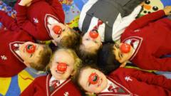 Pupils at New Hall Preparatory School
