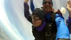 Marion Stangler skydiving