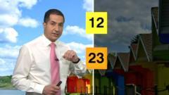 BBC weather reporter Stav