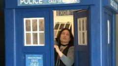 Doctor Who fan Yoz in her own Tardis