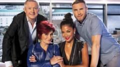X Factor judges Louis Walsh, Sharon Osbourne, Nicole Scherzinger and Gary Barlow