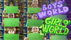 Jobs that boys and girls like to do