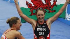 Britain's Non Stanford wins the ITU World Triathlon Series