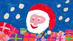 Royal Mail Christmas stamp drawn by Molly, aged 7.