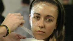 girl being made into zombie