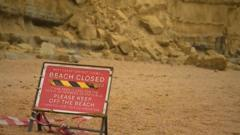 'Beach Closed' sign