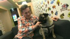 Martin and the star of our April Fools' Day video