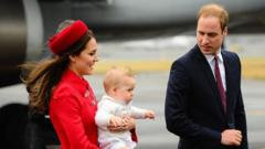 The Royals arrive in New Zealand