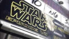 Still from twitter of Star Wars Episode VII clapperboard