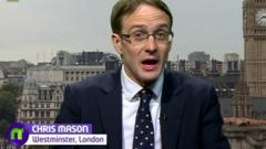 BBC reporter Chris Mason