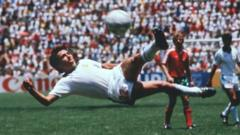 Manuel Negrete scores a stunning volley for Mexico in 1986