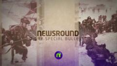 Newsround special D-Day bulletin