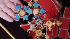 CBE, OBE and MBE medals